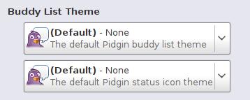 Le nuove opzioni nel mio fiammante Pidgin 2.6.0devel!
